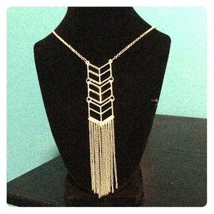 Long Arrow tassel necklace